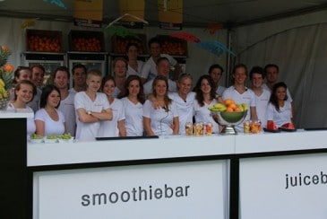 Smoothies op festivals